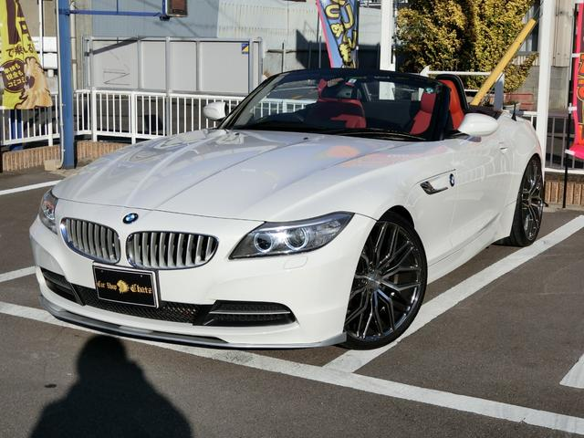 BMW Z4 sDrive20i ディーラー車 ターボ 電動オープン 赤革シート 外品20AW ローダウン HID PWシート シートヒーター HDDナビ CD DVD再生 キーレス プッシュスタート ETC タイミングチェーン式