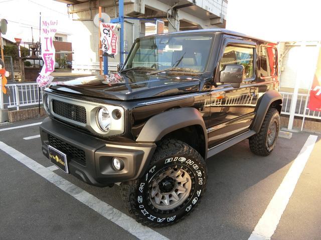 スズキ JL 5MT 4WD ジーアイギガ FUEL特注16AW ホワイトレタータイヤ リフトアップキット 背面タイヤ カスタムグリル ヒッチメンバー 革調シート DVD ウーハー シートヒーター セーフティSP