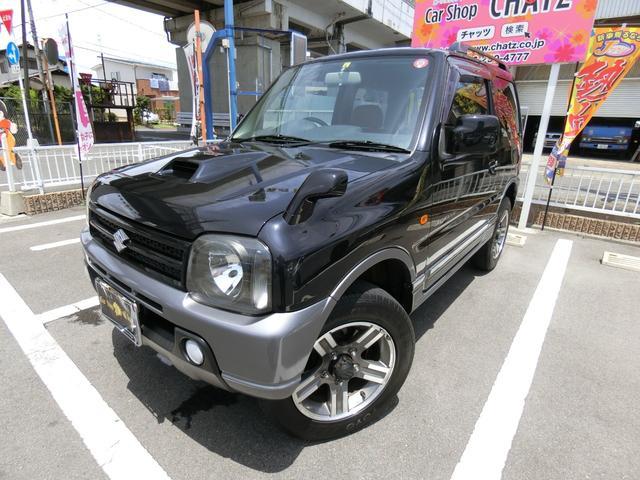 スズキ ジムニー ランドベンチャー 5MT ターボ 4WD 背面タイヤ&カバー 純正16AW ハーフレザーシート シートヒーター CD再生 キーレス フル装備 ABS タイミングチェーン式