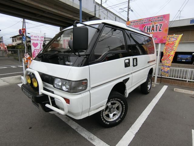 三菱 エクシード 3ナンバー登録 4WD クリスタルライトルーフ 外品15AW リフトアップ 大型フォグ スライドドア フル装備 7人乗り タイミングベルト交換済