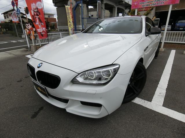 BMW 6シリーズ 640iクーペ Mスポーツ ディーラー車 ターボ グリル改 純正20AW H&Rダウンサス Kパイプマフラー HID LEDフォグ トランクスポイラー 大型ガラスルーフ 半本革 HDDナビフルセグTV Bカメラ キーレス
