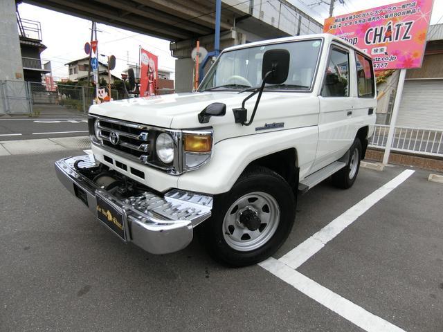 トヨタ LX 希少3ドア ディーゼル 5MT 4WD 4ナンバー登録 フルノーマル ウインチ 背面タイヤ 外品CDオーディオ ETC パワステ エアコン タイミングベルト交換済