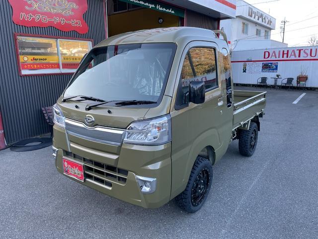 ダイハツ ハイゼットトラック ジャンボSAIIIt 2インチリフトアップ 15インチアルミ 新品タイヤ キーレス SA3 登録済み未使用者 AT 4WD