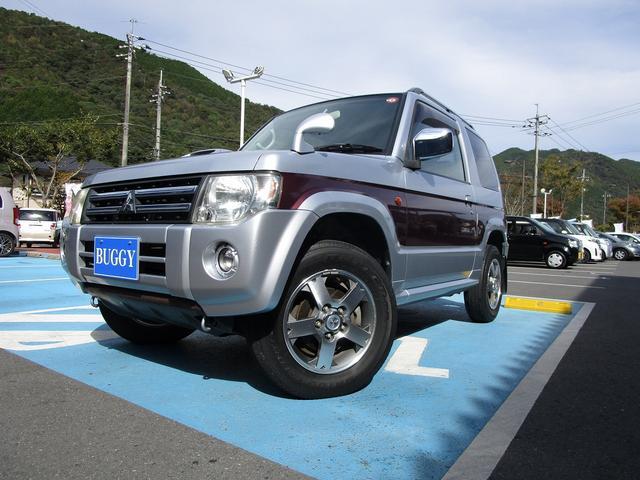 三菱 パジェロミニ エクシード 6か月保証 ターボ 4WD CDチューナー ETC 純正アルミホイール 電動格納式ドアミラー 盗難防止システム