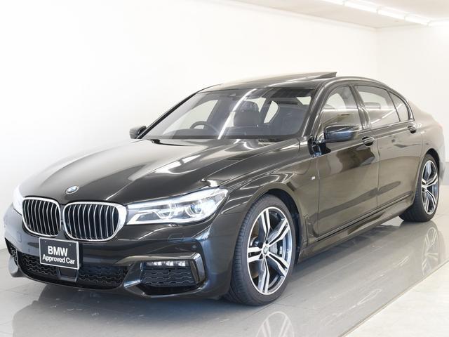 BMW 7シリーズ 750Li Mスポーツ スカイラウンジパノラマサンルーフ 本革 ハーマンカードン リアコンフォパッケージプラス レーザーライト ディスプレイキー トップビュー 純正20インチアロイホイール