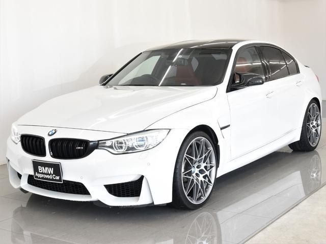 BMW M3 本革 フルメリノレザー ヘッドアップディスプレイ HarmanKardonスピーカ- フロントシートヒーター Rブラインド フルセグ アダプティブLEDヘッドライト  コンペティション20AW