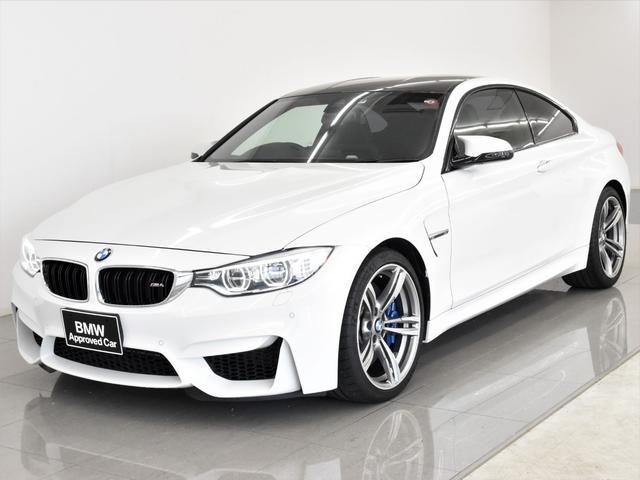 BMW M4クーペ 黒革 アダプティブMサスペンション ヘッドアップディスプレイ ドライビングアシスト フロントシートヒーター Hifiスピーカー フルセグ アダプティブLEDヘッドライト 19AW
