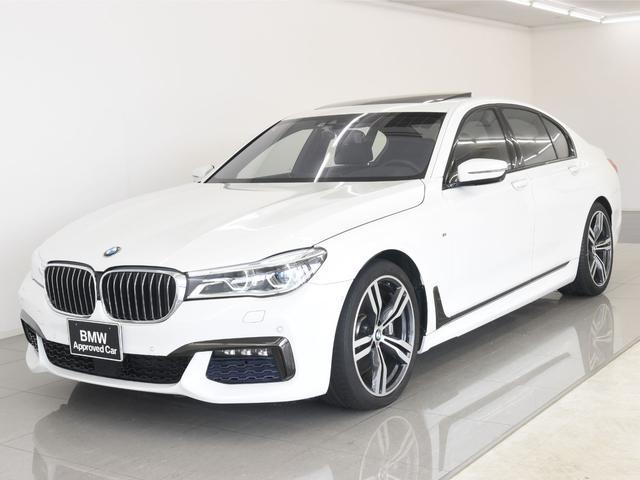 BMW 750i Mスポーツ 左H 電動サンルーフ 本革 BMWレーザーライト リモートパーキング BMWディスプレイキー ソフトクローズドア アクティブクルーズコントロール ヘッドアップディスプレイ オートトランク