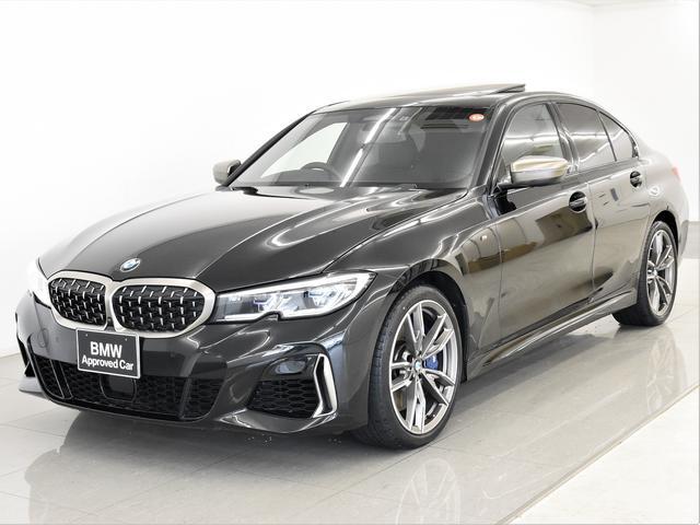BMW M340i xDrive サンルーフ 黒革 BMWレーザーライト ヘッドアップディスプレイ トップビュー ライブコックピット アダプティブMサス ハイビームアシスタント Harman/Kardon 純正19インチAW