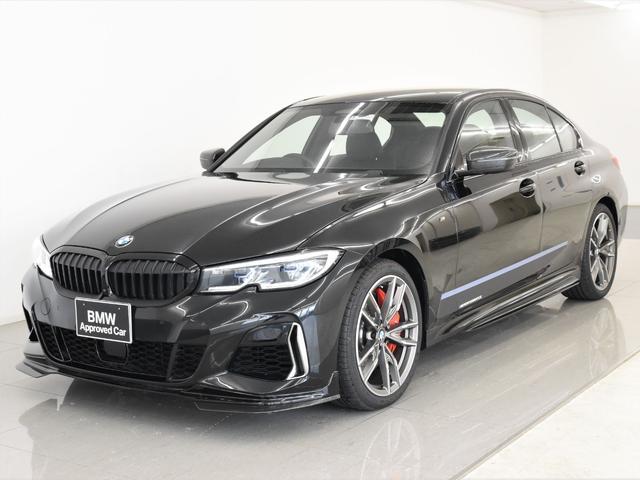 BMW M340i xDrive 黒革 Mパフォーマンスエアロ&ステッカー BMWレーザーライト トップビュー ヘッドアップディスプレイ IconicGlow Mパフォブレーキ 19インチAW