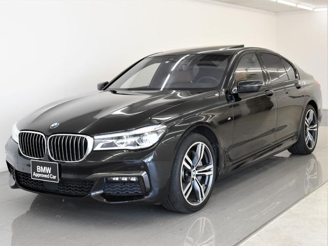 BMW 750i Mスポーツ 左ハンドル サンルーフ 黒革 HarmanKardon ヘッドアップディスプレイ アクティブクルーズコントロール リモートパーキング ディスプレイキー トップビュー ソフトクローズ