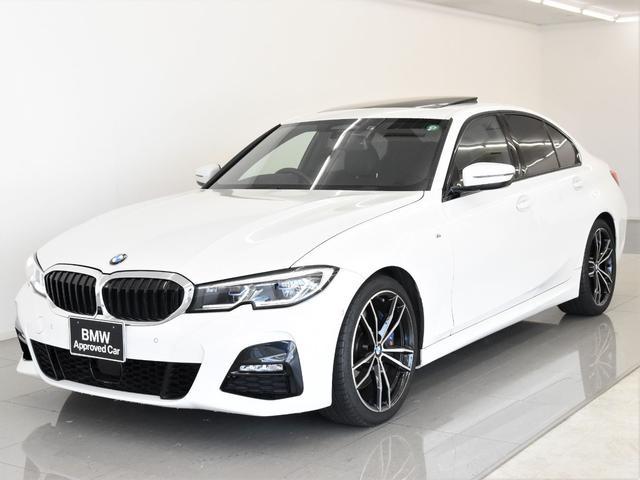 BMW 330i Mスポーツ サンルーフ 黒革 BMWレーザーライト オートトランク トップビュー リバーズアシスト シートヒーター ハイビームアシスタント 純正19インチアロイホイール