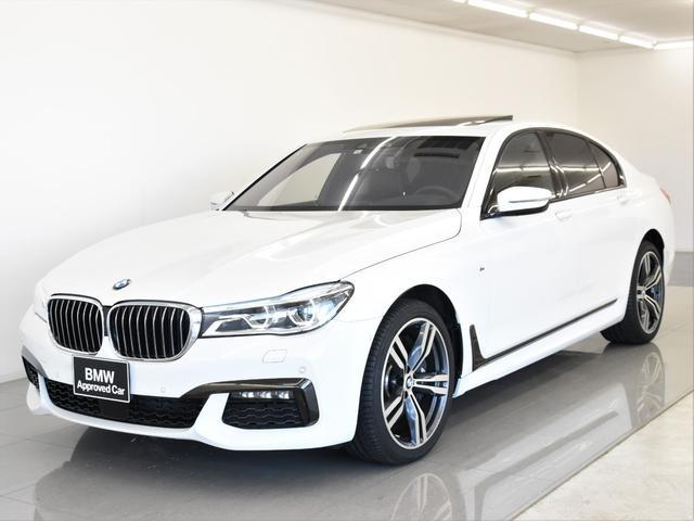 BMW 750i Mスポーツ 左H サンルーフ レーザーライト HarmanKardon ヘッドアップディスプレイ アクティブクルーズコントロール トップビュー フロントベンチレーションシート 純正20インチアロイホイール