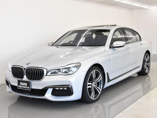 BMW 740i Mスポーツ サンルーフ 黒革 indiviボディーカラー レーザーライト ディスプレイキー リモートパーキング ヘッドアップディスプレイ Harman/Kardon トップビュー オートトランク 純正20AW