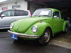 VW ビートルミッション車 レストア エンジン USA部品取付マフラー