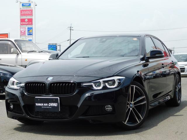 BMW 3シリーズ 318i Mスポーツ エディションシャドー 限定車 専用19インチアロイホイール ブラックレザーシート ブラックキドニーグリル 内装異臭無し 専用ダーク色LEDヘッド&テールライト マルチディスプレイメーターパネル センサテックレザーブラック