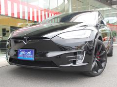 テスラ モデルXパフォーマンス 黒革 7シーター 22インチホイール