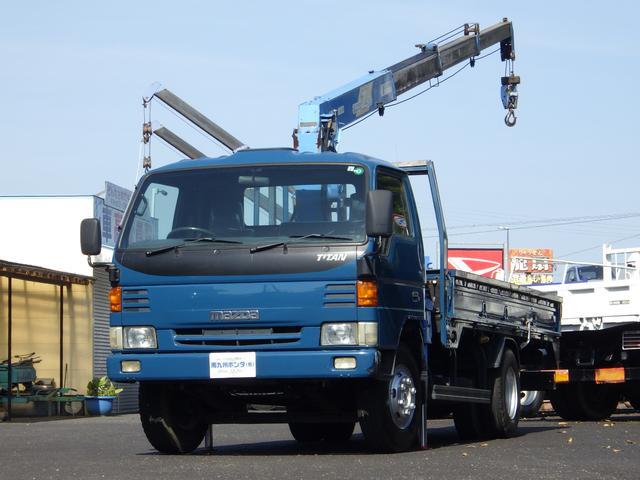 マツダ  タダノ4段クレーン ラジコン付 3.4トン積み 3方開 軽々ゲート 4600ccディーゼル 6速マニュアル