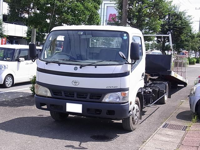 トヨタ ダイナトラック 積載車 社外ナビ DVD再生