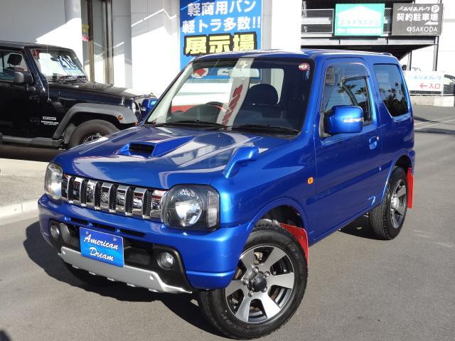 スズキ ジムニー クロスアドベンチャーXC 4WD ターボ車 ハーフレザーシート シートヒーター キーレス ETC CD 純正16インチAW 背面タイヤ 延長保証対象車