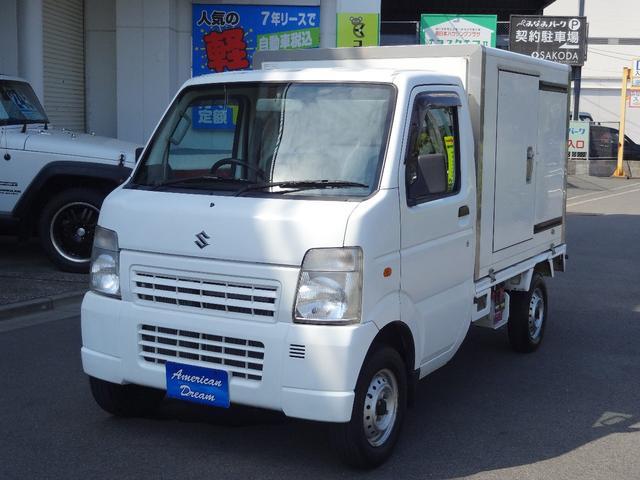 スズキ  保冷車 4WD 5速ミッション車 エアコン パワステ エアバック 三方開き 荷台専用キー