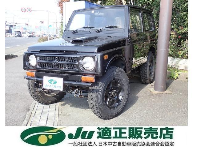 スズキ ジムニー HC ターボ 4WD リフトアップ 黒革調シートカバー 5速ミッション車 パワステ アルミ