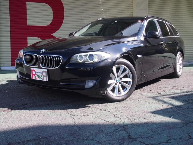 BMW 5シリーズ 523iツーリング ハイラインパッケージ 2.0ターボEG HDDナビ フルセグTV DVD Bカメラ 前後ソナー ミラーETC 黒本革シート シートH スマートキー EGプッシュ アイスト バイキセノン 純正17インチAW ルーフレール