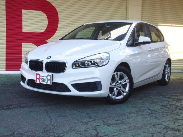 BMW 2シリーズ 218iアクティブツアラー 衝突警告 車線逸脱警告 歩行者警告 1.5ターボエンジン 純正HDDナビ フルセグ DVD バックカメラ 全方位モニター ソナー ETC スマートキー EGプッシュスタート LEDライト 16AW