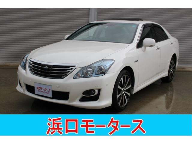 トヨタ ベースグレード サンルーフ 黒革シート 純正ナビ テレビ