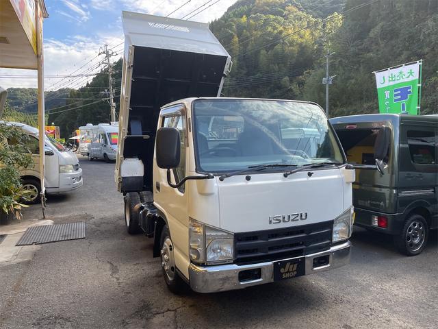 いすゞ  全低床3tダンプ AT ETC エアコン パワステ エアバック ABS 電格ミラー ディーゼル