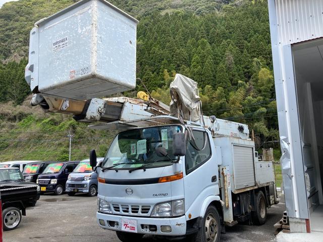 日野  高所作業車アイチ15M 15m伸 エアコン パワステ パワーウィンドウ サブバッテリー アイチSH15A