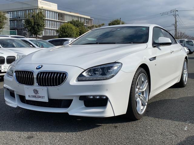 BMW 6シリーズ 640iグランクーペ Mスポーツパッケージ/アダプティプLEDヘッドライト/19インチアロイホイル/ブラック本革シート/シートヒート/クルーズコントロール/純正ナビフルセグTV&バックカメラ/レーンチェンジウォーニング