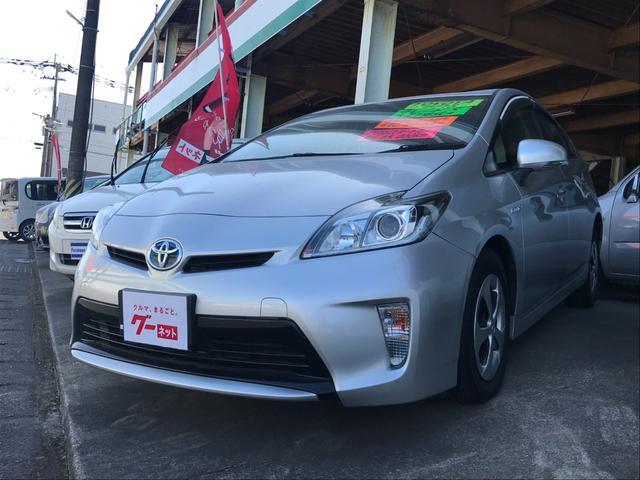 トヨタ プリウス S ナビ ETC バックカメラ Bluetooth CD DVD オートライト 安全装備 スマートキー 電動格納ミラー アイドリングストップ
