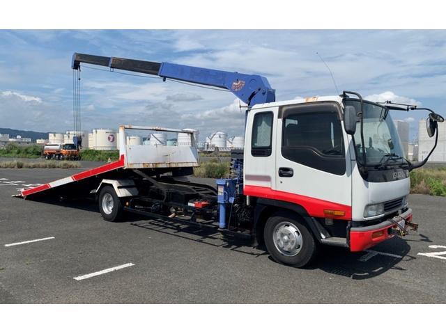 いすゞ ベースグレード 積載車 トラック クレーン 3段 AC AT