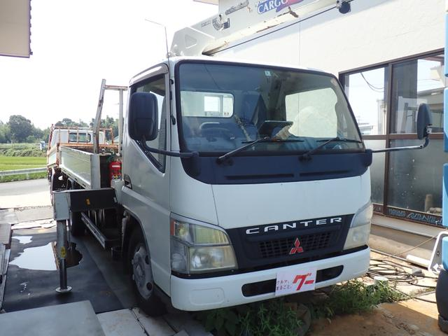 三菱ふそう キャンター  ユニック車 タダノ3段クレーン ラジコン 2t積 ETC 5速ミッション車