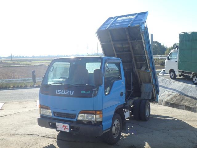 いすゞ エルフトラック  ダンプ 4WD 2t積載 キャビン載せ替え 5速マニュアル