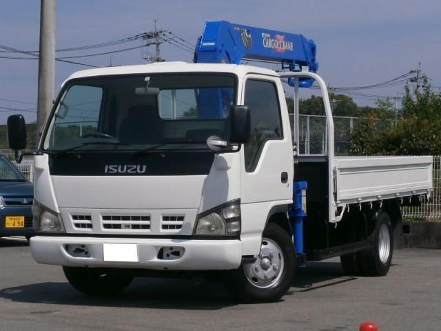 いすゞ ワイドロング 4段フックイン・クレーン
