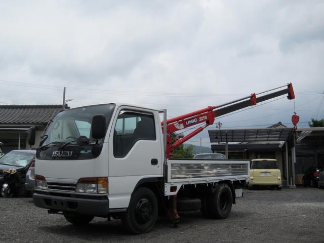いすゞ 横置クレーン付 4WD ディーゼル 最大積載2000kg