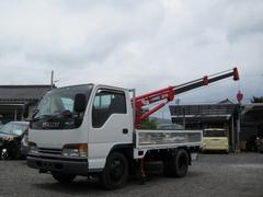 エルフトラック横置クレーン付 4WD ディーゼル 最大積載2000kg