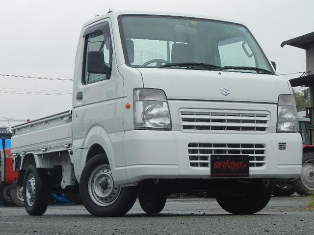 スズキ キャリイトラック FC ワンオーナー 4WD 5速ミッション エアコン パワステ ライトレベライザー 3方開き