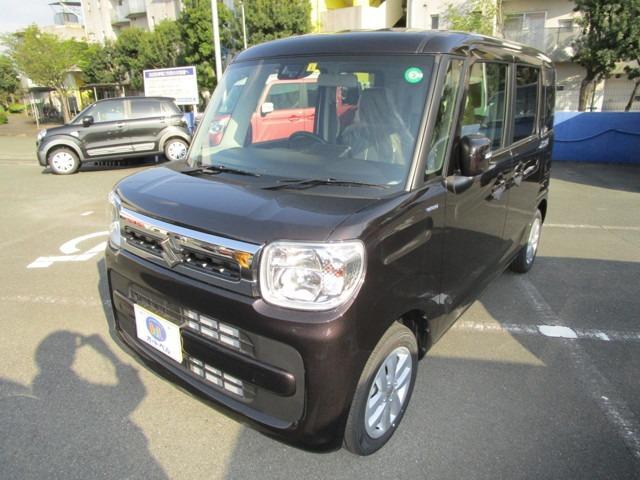 スズキ ハイブリッドX 内装ブラック LEDヘッドライト 両側電動スライドドア シートヒーター