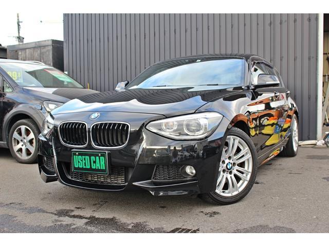BMW 116i Mスポーツ 純正HDDナビ アイドリングストップ スマートキー プッシュスタート キセノン オートライト M専用純正アルミ 禁煙車 ミラー型ETC ミージュックサーバー