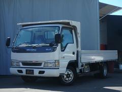 エルフトラック2t低床ワイドロング 6速MT アルミ3方開 荷台木貼り