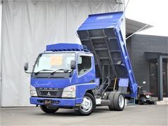 キャンターダンプ 3t積載 4.9Lディーゼルターボ 低床 5速マニュアル ETC付外装全塗装