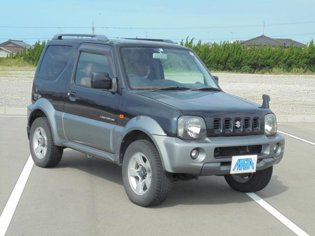 スズキ ランドベンチャー 4WD 禁煙車 キャメルコンビ革シート 黒