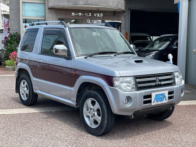 三菱 パジェロミニ エクシード 禁煙車 4WDターボ キーレス CD 盗難防止システム 内外装三つ星