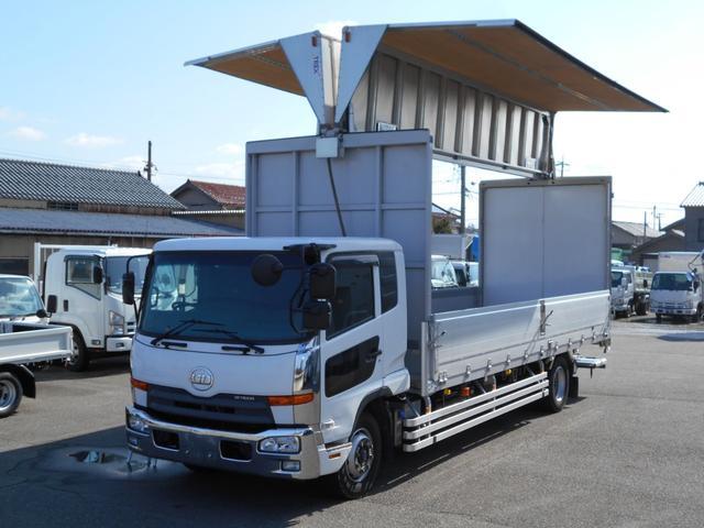 UDトラックス 増トン ワイドアルミウイング 格納ゲート エアサス