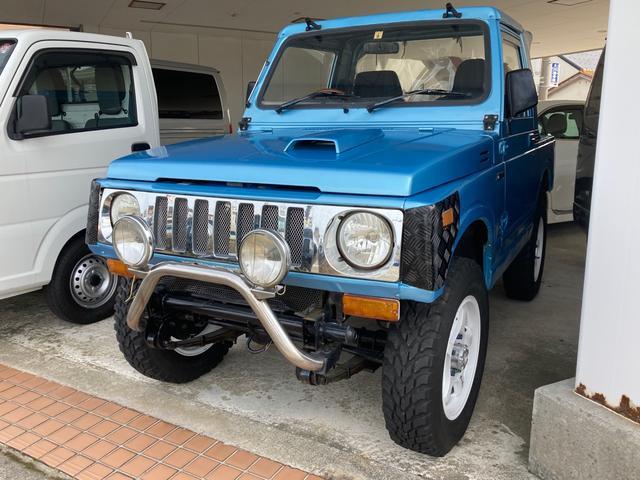 スズキ ジムニー CC 4WD ターボ 5速マニュアル 社外F・Rバンパー NARDIステアリング