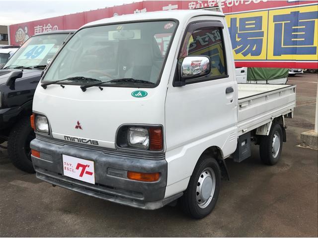 三菱 ミニキャブトラック VX-SE 4WD 5速マニュアル パワステ 三方開 社外ステアリング