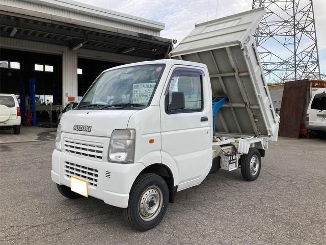 スズキ キャリイトラック ダンプ 強化ダンプ 5MT 4WD エアコン パワステ 新品タイヤ 車検令和5年2月